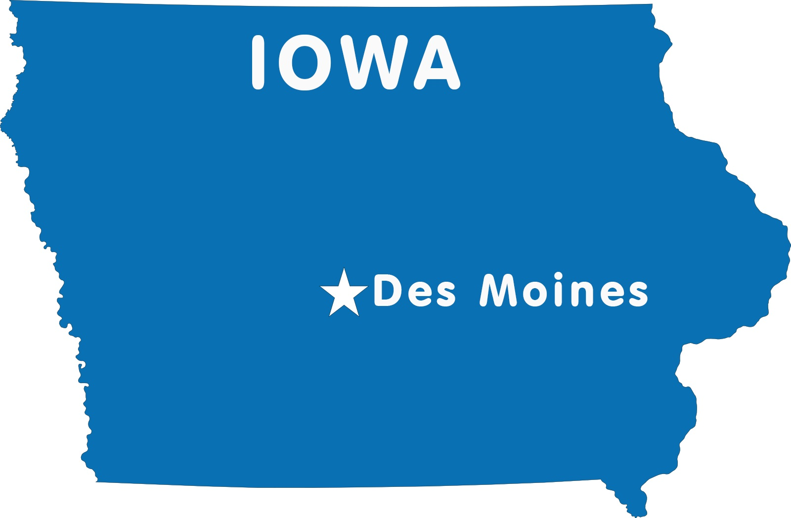Iowa Capital Map | Large Printable High Resolution and Standard Map