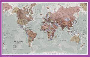 The World Political Map   Large, Printable, Children Choice,Political Map