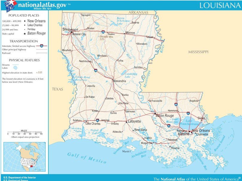 Map Of Louisiana Political County Geography Transportation And Cities Map Whatsanswer