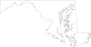Maryland blank outline Map | Large Printable High Resolution and Standard Map