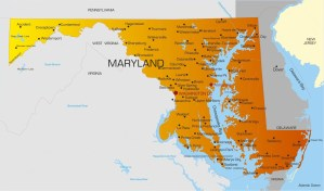 Maryland City Map   Large Printable High Resolution and Standard Map