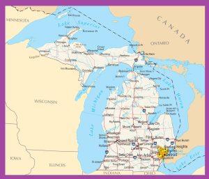 Michigan Political Map | Large, Printable, High Resolution Standard Map