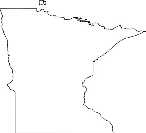 Minnesota blank outline Map | Large Printable High Resolution and Standard Map