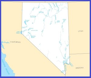 Nevada Rivers Map | Large Printable High Resolution and Standard Map