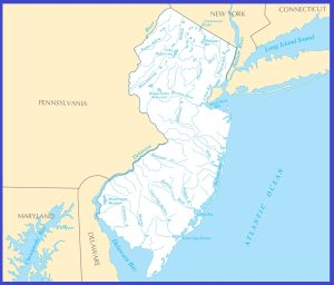 New Jersey Rivers Map | Large Printable High Resolution and Standard Map