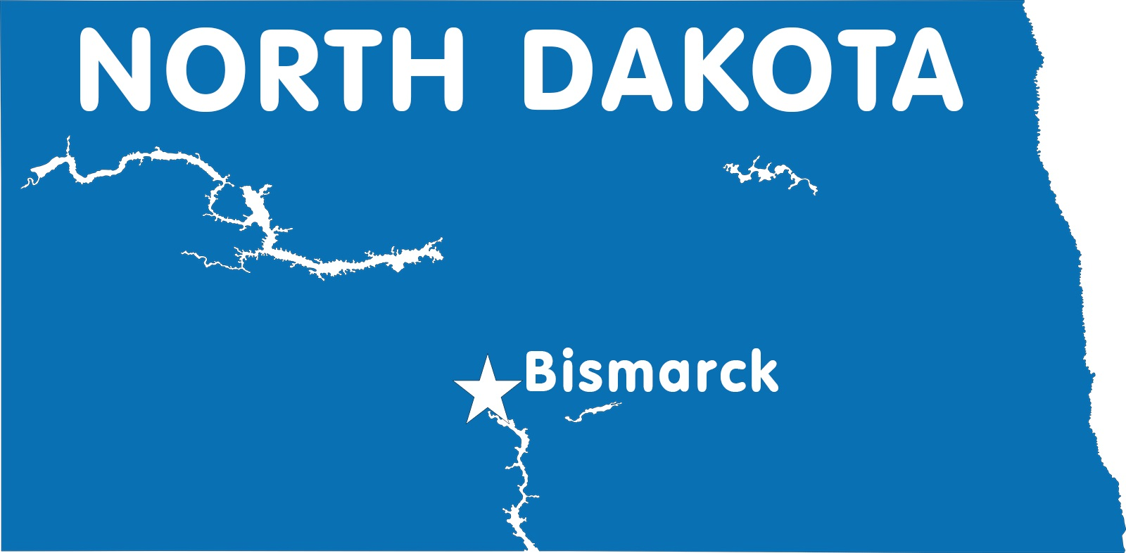 Map of North Dakota | Political, County, Geography, Transportation, And Cities Map