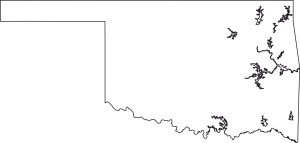 Oklahoma blank outline Map | Large Printable High Resolution and Standard Map