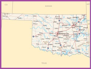 Oklahoma Political Map | Large Printable High Resolution and Standard Map