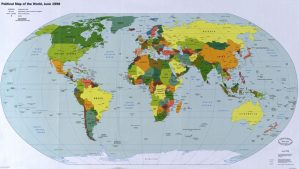 The World Political Map  | June 1998 | Large, Printable Downloadable Map