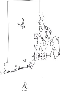 Rhode Island Blank Outline Map | Large Printable Standard Map