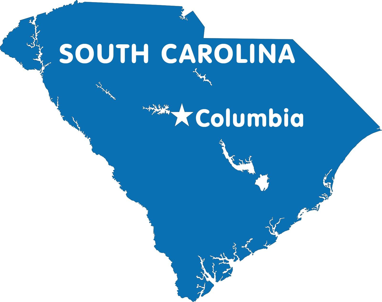South Carolina Capital Map | Large Printable High Resolution and Standard Map