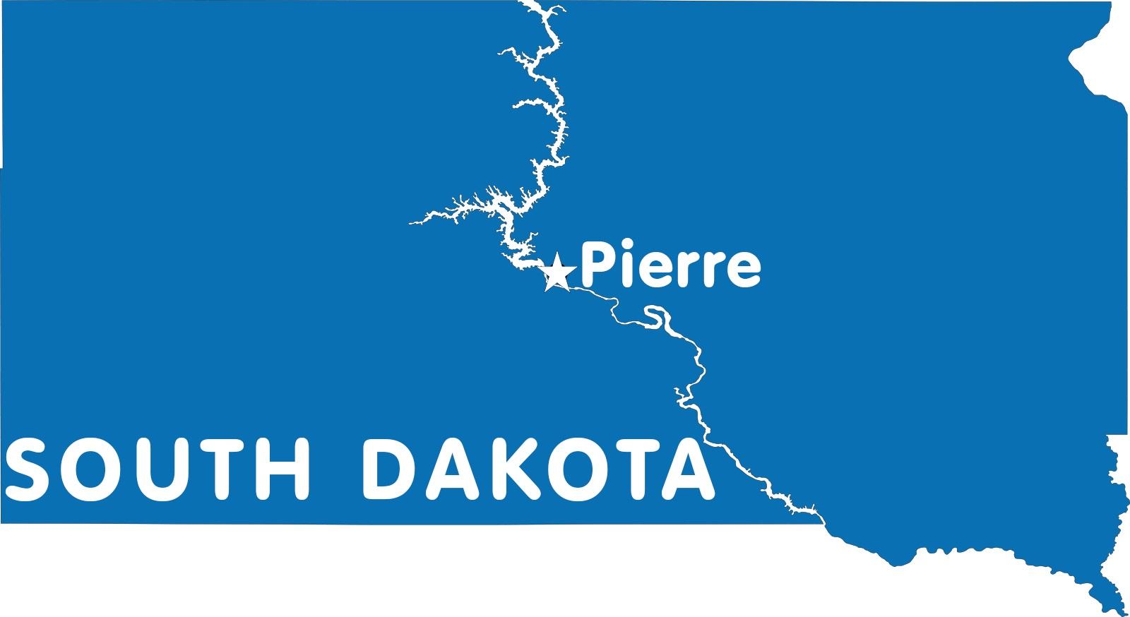 South Dakota Capital Map | Large Printable High Resolution and Standard Map