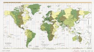 The World Standard time zones Map   | 2005 | Large, Printable Downloadable Map