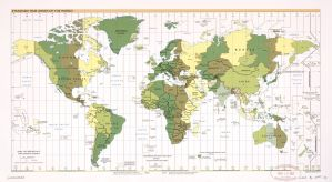 The World Standard time zones Map   | 2007 | Large, Printable Downloadable Map