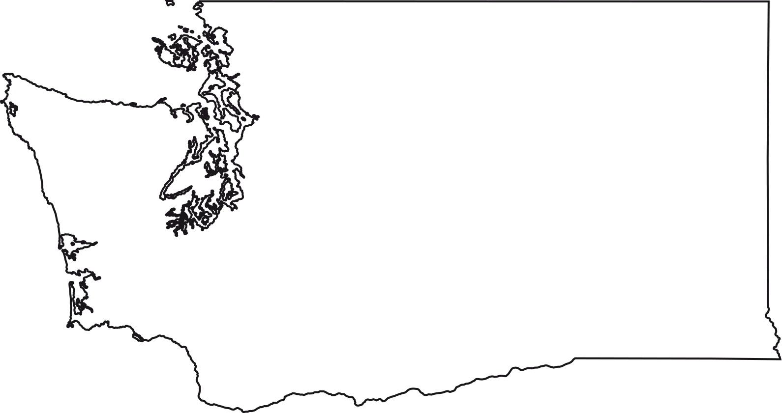 Washington blank outline Map | Large Printable High Resolution and Standard Map