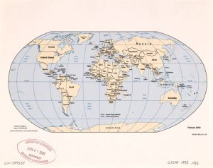 The World Political Map  | 1992 | Large, Printable Downloadable Map