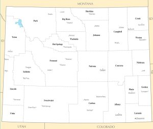 Wyoming City Map | Large Printable High Resolution and Standard Map