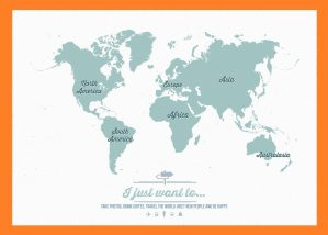 The World Continent Map | Large, Printable, Children Choice, Political Map