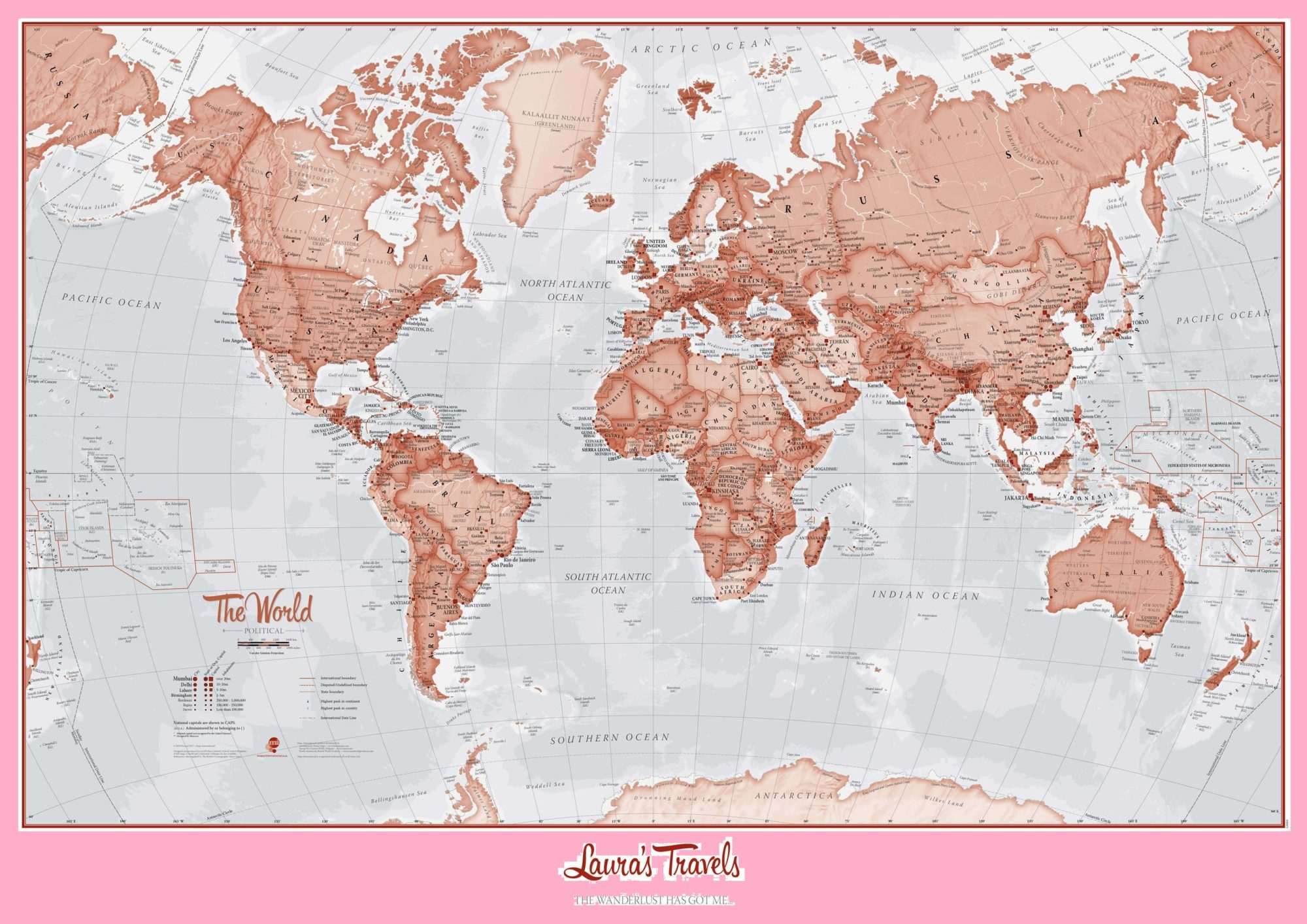 The World Political Map | Large, Printable, Children Choice, Political Map-4
