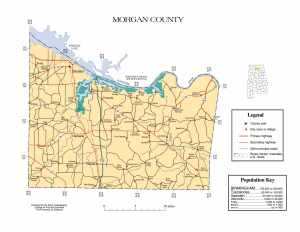 Morgan County Map |  Printable Gis Rivers map of Morgan Alabama