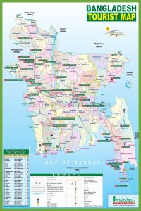 Tourist Map Of Bangladesh | Bangladesh Travel Guide Map