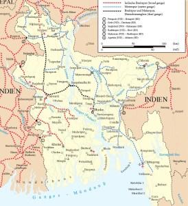 Railway Map Of Bangladesh | Bangladesh Railway Route Map