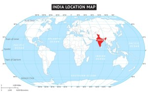 Latitude And Longitude Map of India | Where is India ?