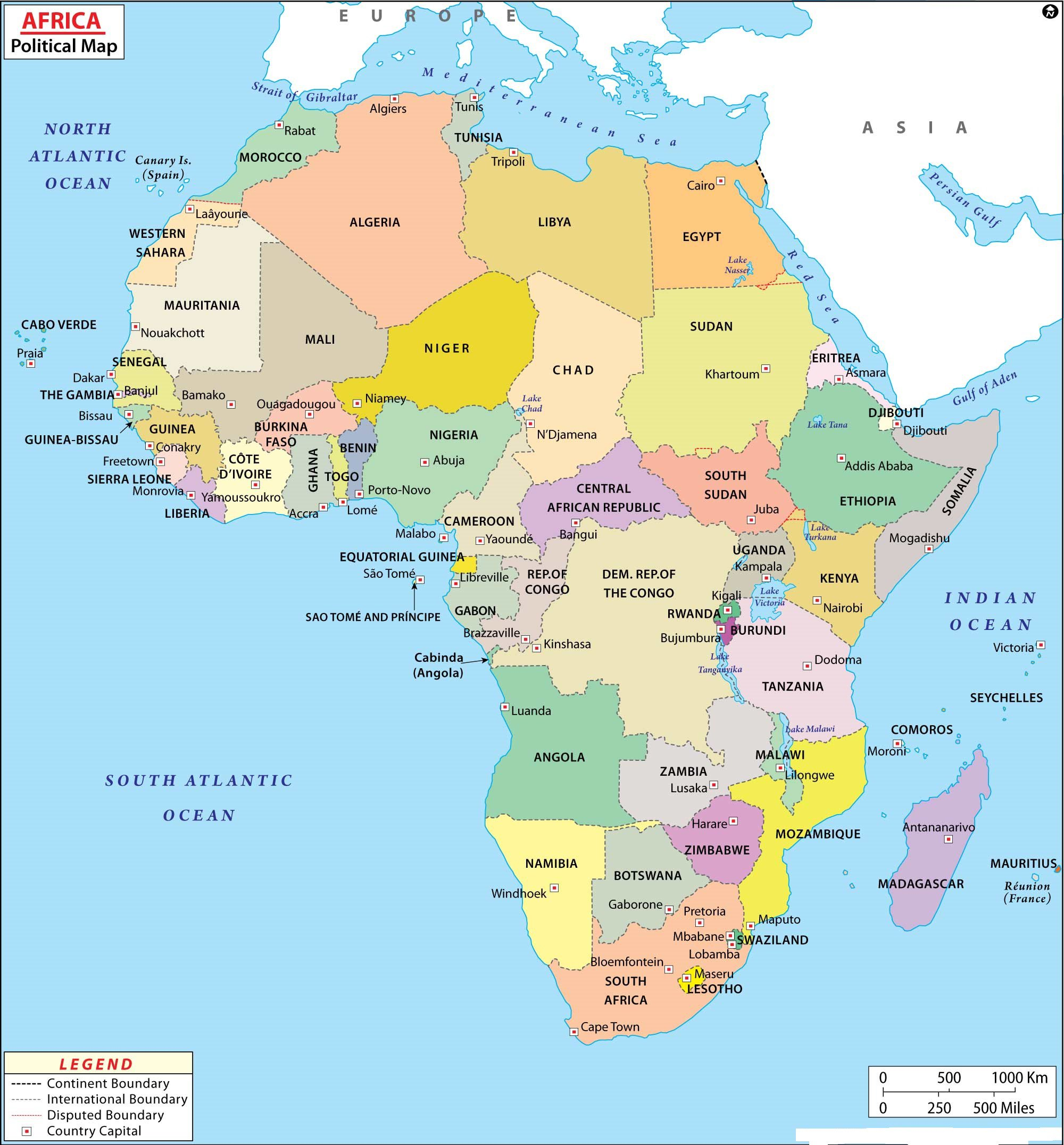 Map Of Africa Printable Map of Africa | Printable Large Attractive HD Map of Africa