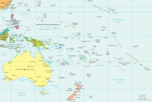 Map of Oceania | Large Political Map of Oceania