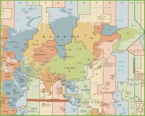 Time Zone Map of Asia | Asia Current Time Zones Map