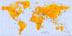Time Zone Map of The World   World Time Zones Map