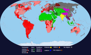 World Religions Map | Religions of The World