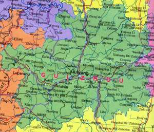 Map of Guizhou Province | Political, Outline, Geography And Cities Map