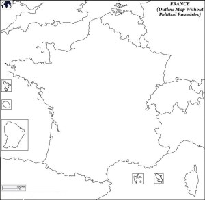 Blank Map of France   Large, Printable France Map