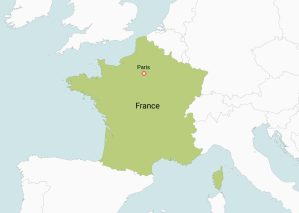 Map of France   Physical Map of France