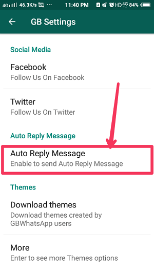 Auto-Reply on GBWhatsApp