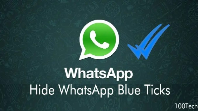 How to disable whatsapp blue ticks