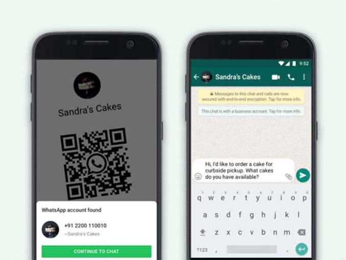 whatsapp business qr code & catalog