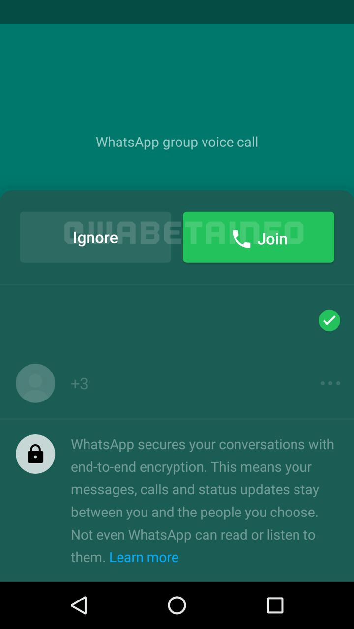 Join Missed Group Call