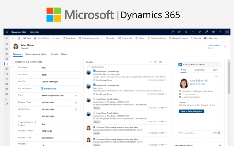 Microsoft Dynamics 365 CRM Small Business