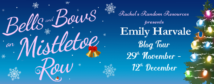 #BookReview #BlogTour Bells and Bows on Mistletoe Row by Emily Harvale @emilyharvale @rararesources