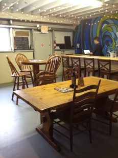 When exiting the touring area of the fermenting room you get this view of the intimate seating area.