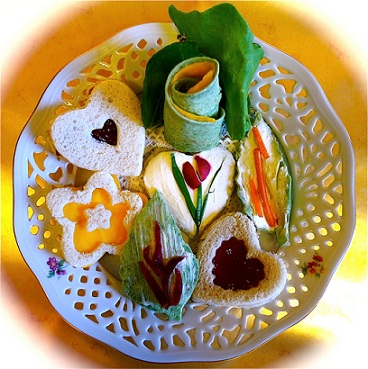 Decorating Tea Sandwiches and Savories Whats Cooking America