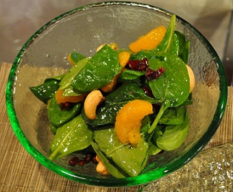Spinach Salad with Mandarin Oranges Whats Cooking America