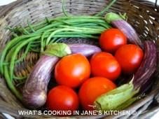 Fresh Summer Vegetables from the Kitchen Garden