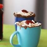 5 Minute Eggless chocolate mug cakes
