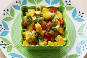 sweet and tangy mango salad