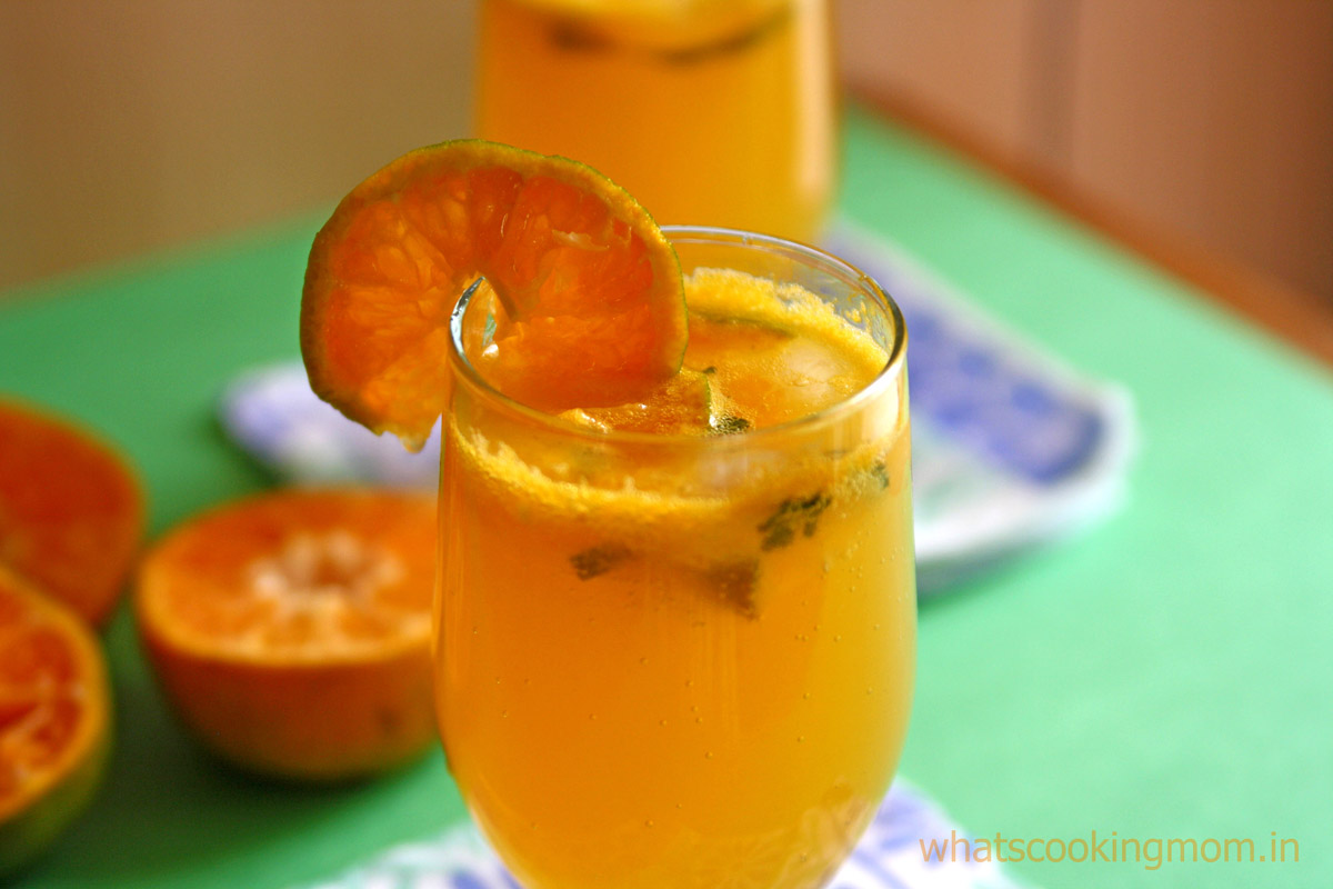 Virgin Orange Mojito - A very refreshing fruity non alcoholic drink or mocktail