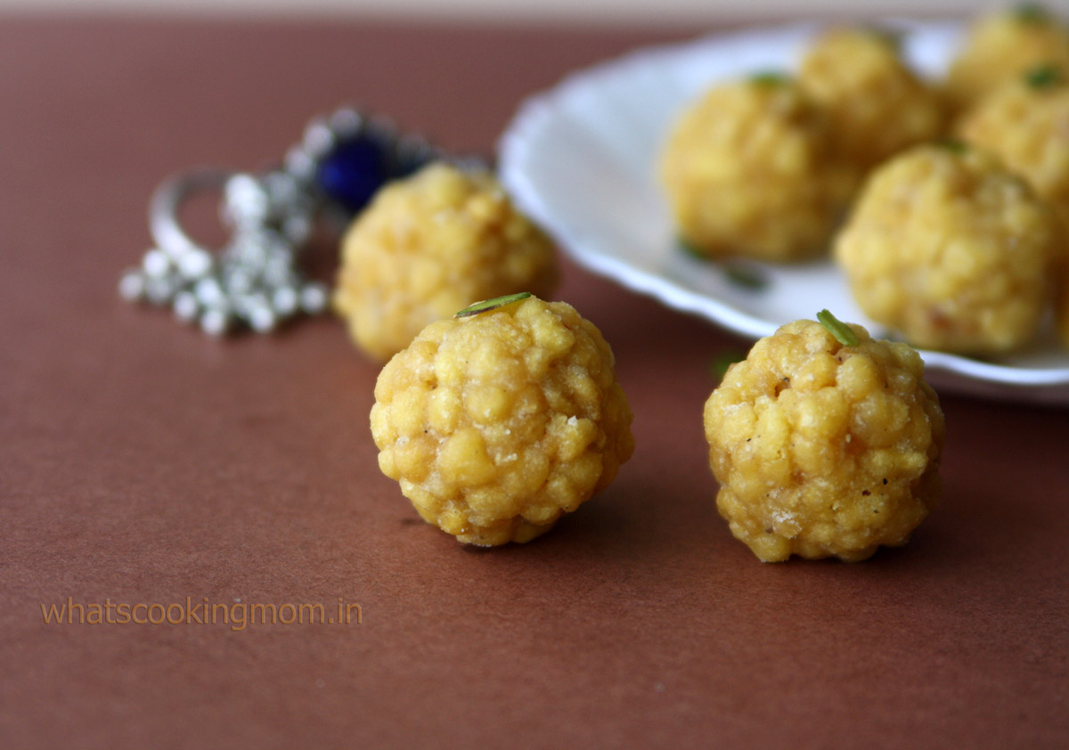 Boondi Ladoo - Diwali sweets, festival sweets, indian | whatscookingmom.in