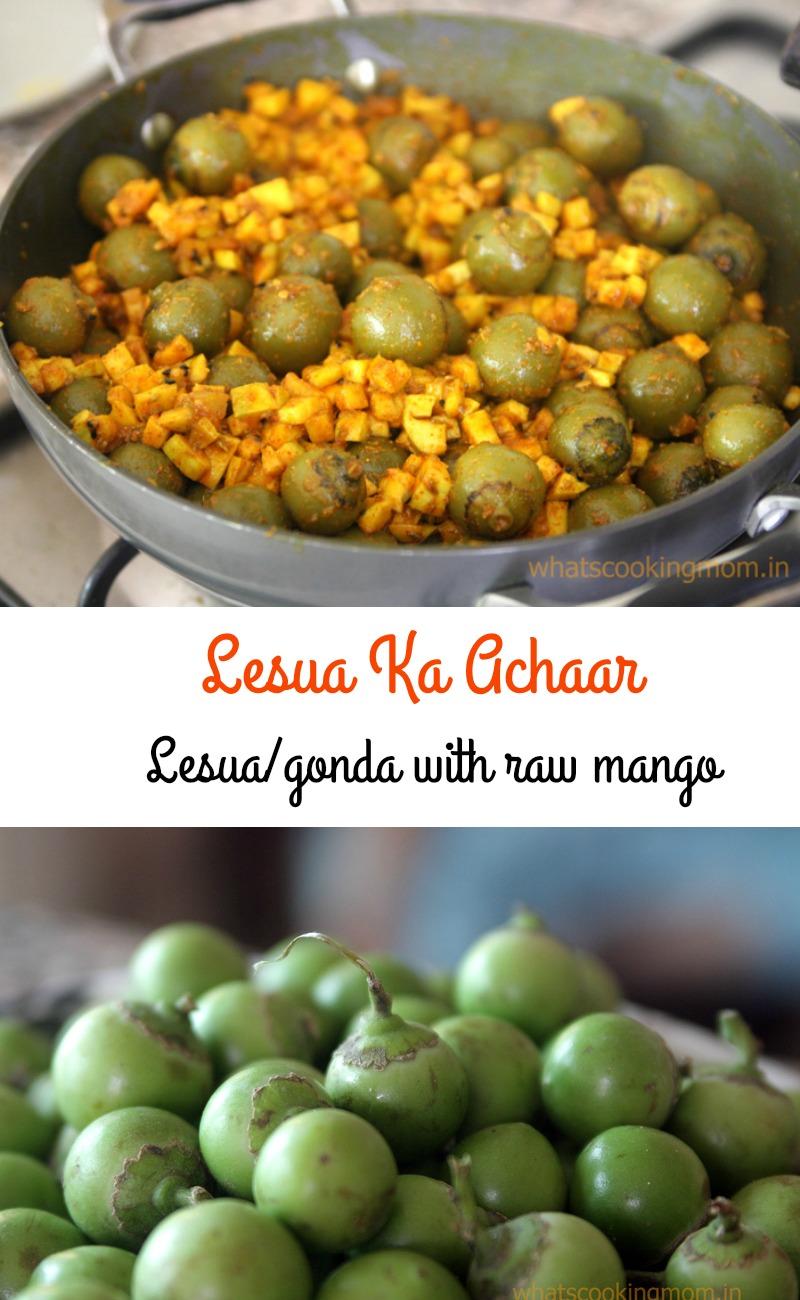 Lesua ka achaar with raw mango